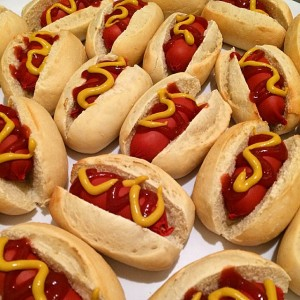 Cute Mini Hot Dogs massive hit at tonight's function!